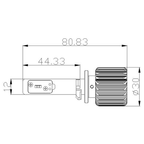 Набор светодиодного головного света UP-7HL-880W-4000Lm (880, 4000 лм, холодный белый) Превью 1