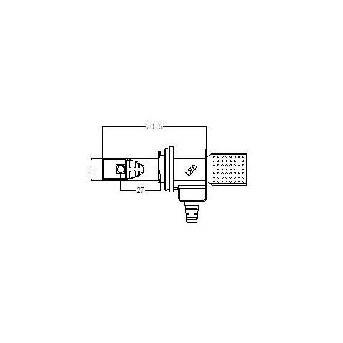 Набір світлодіодного головного світла UP-5HL-H11W-CR-2500Lm (H11, 3000 лм, холодний білий) Прев'ю 4