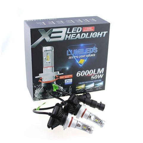Набір світлодіодного головного світла UP-X3HL-9005W(HB3) (6000 лм) Прев'ю 2