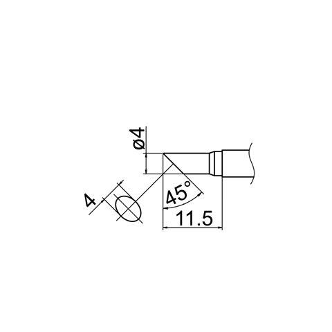 Паяльне жало HAKKO T12-CF4 Прев'ю 4