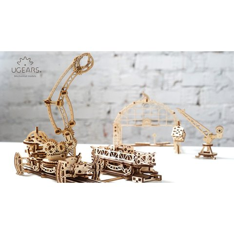 Mechanical 3D Puzzle UGEARS Rail Manipulator Preview 6