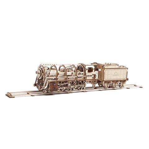 Механический 3D-пазл UGEARS Локомотив с тендером - /*Photo|product*/