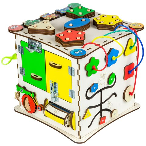 Бизиборд GoodPlay Развивающий кубик (25×25×25) Превью 1
